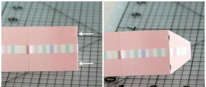 manualidades con cartulina, instrucciones cómo doblar cartulina para obtener una bolsita para regalos, tutorial