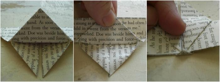 como hacer cosas de papel, tutorial para hacer mariposa origami doblando papel de libro o periodico