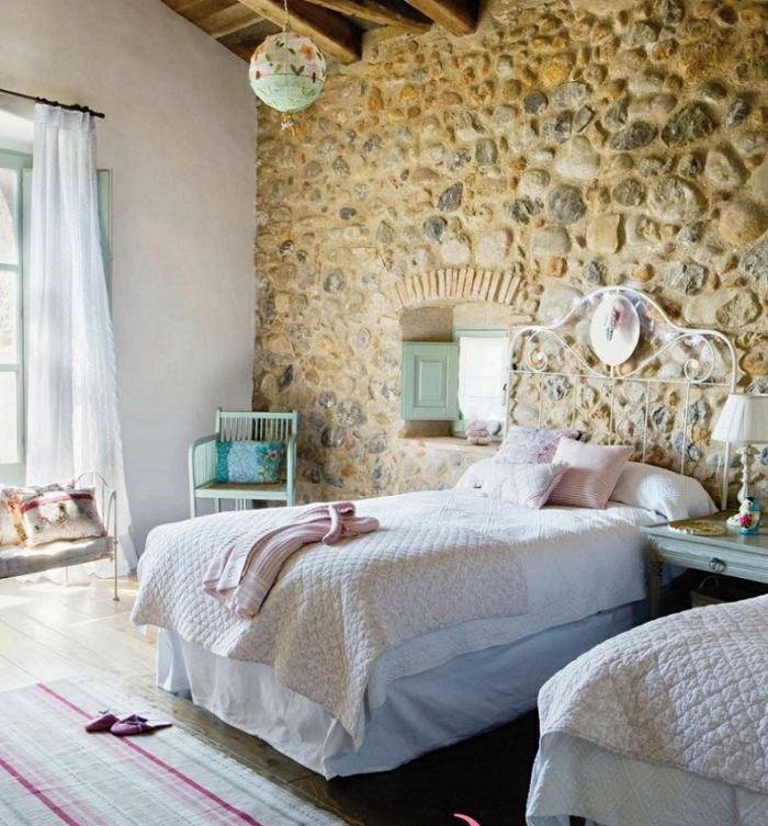 1001 ideas de decoraci n con pared de piedra o ladrillo - Piedra natural para paredes ...