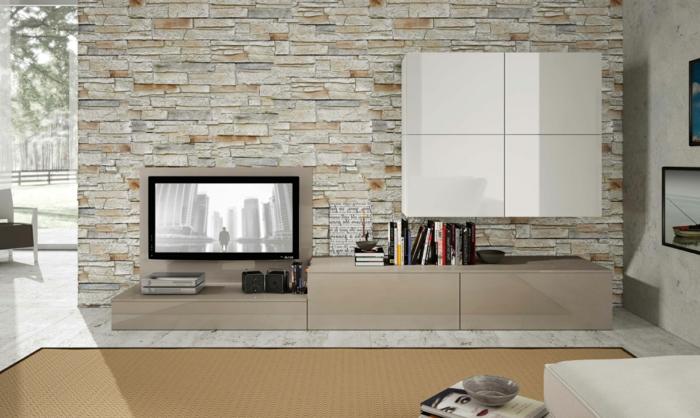 1001 ideas de decoraci n con pared de piedra o ladrillo - Salones con piedra ...