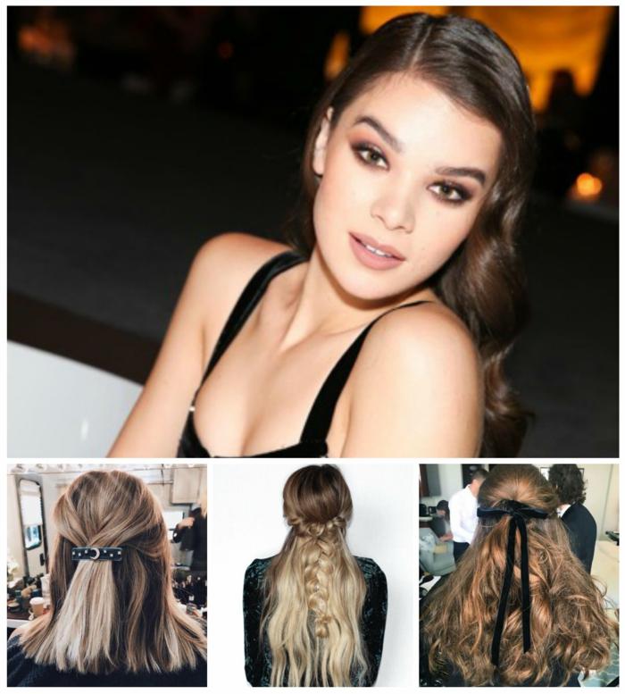 peinados fin de año, cuatro propuestas para peinados de Nochevieja, dsemirecogidos faciles, pelo suelto ondulado