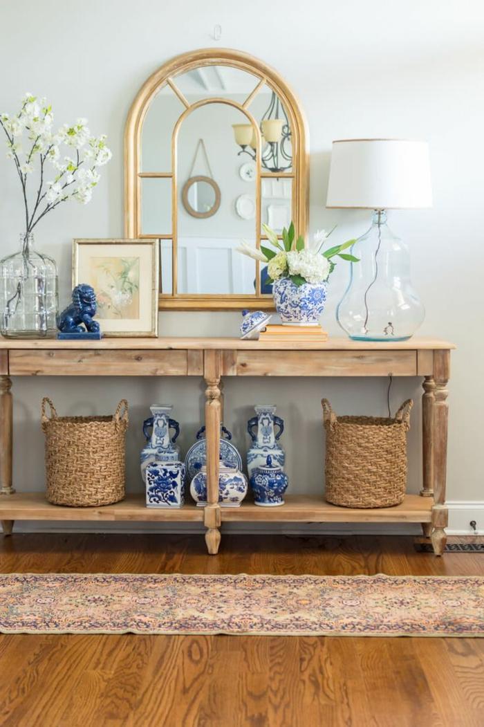1001 ideas de recibidores originales con encanto for Decoracion de madera