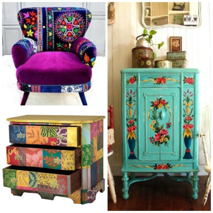 colores para salones, tendencias en los muebles para espacios en estilo bohemio, colores chillones