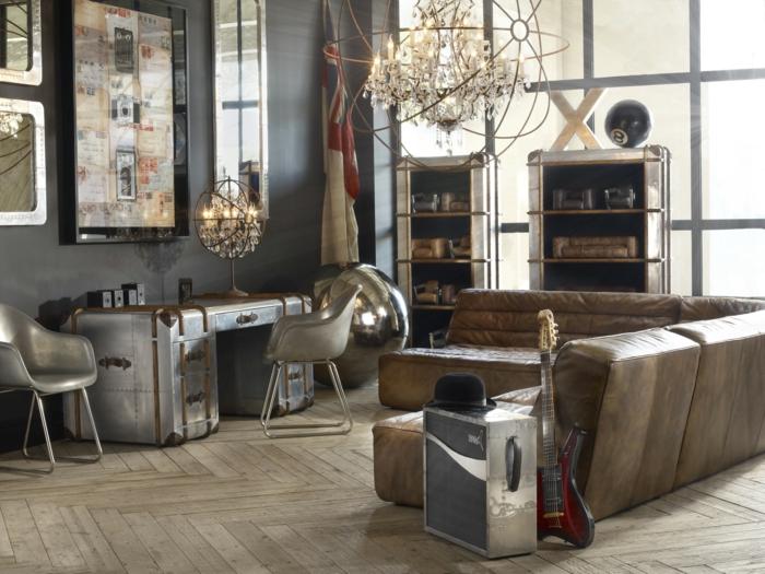 vintage, salçon vintage con detalles en tonos metálicos, ideas de los años 80, candelabro vintage