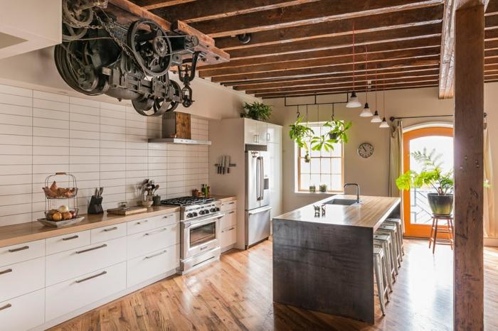 propuesta encantadora para tu cocina, cómo amueblar la cocina para conseguir diseño de cocinas en estilo industrial