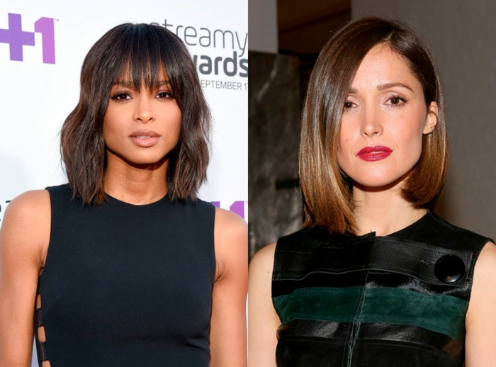 peinados pelo corto, últimas tendencias en cortes de pelo y peinados 2018, dos variantes de carre, pelo hasta los hombros