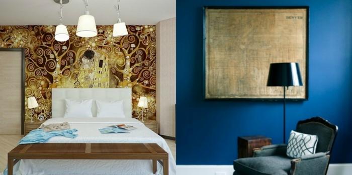 1001 ideas de decoraci n con cuadros para dormitorios for Cuadros dormitorio clasico