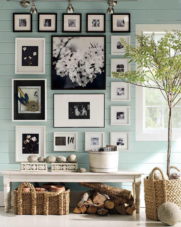 1001 ideas originales sobre c mo decorar con fotos - Perchas pared originales ...