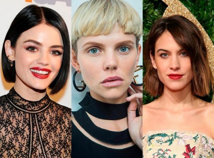 pelo corto mujer, tres propuestas de pelo corto según las últimas tendencias, pelos lisos cortados en carre