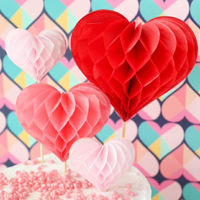 preciosa decoración para la casa, corazones colgantes de papel tridimensionales, regalos romanticos DIY, manualidades de papel