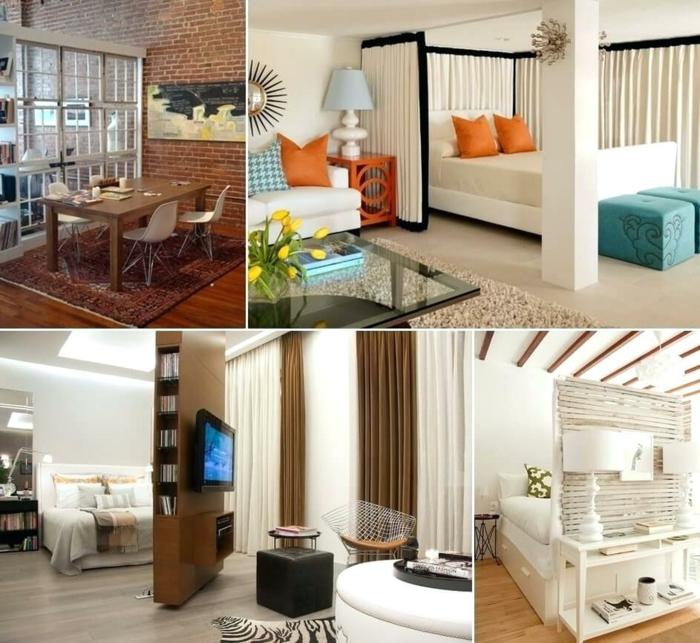 1001 ideas de separadores de ambientes decorativos y - Divider ideas for studio apartments ...