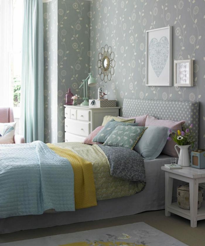 1001 ideas de decoraci n con cuadros para dormitorios - Cuadros dormitorio juvenil ...