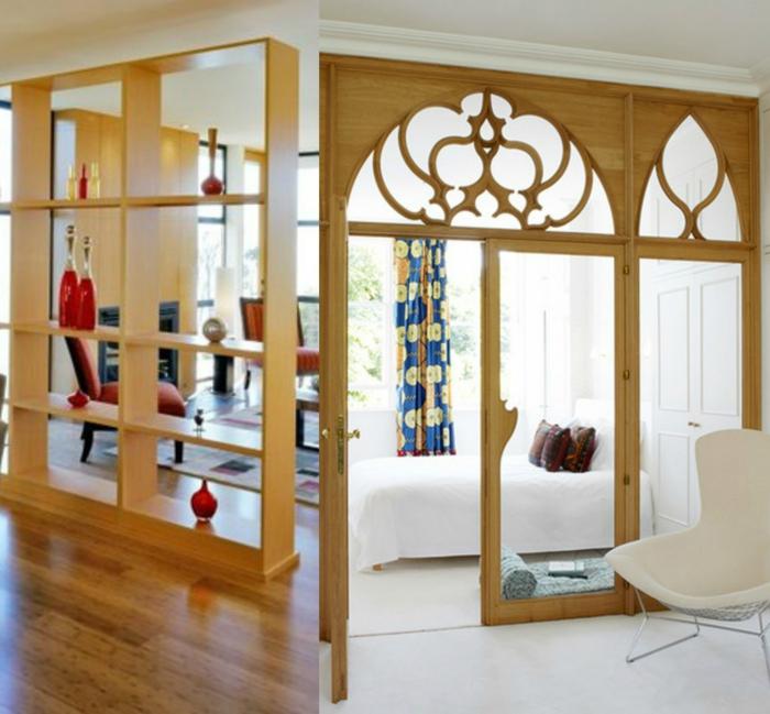 1001 ideas de separadores de ambientes decorativos y for Decoracion biombos separadores