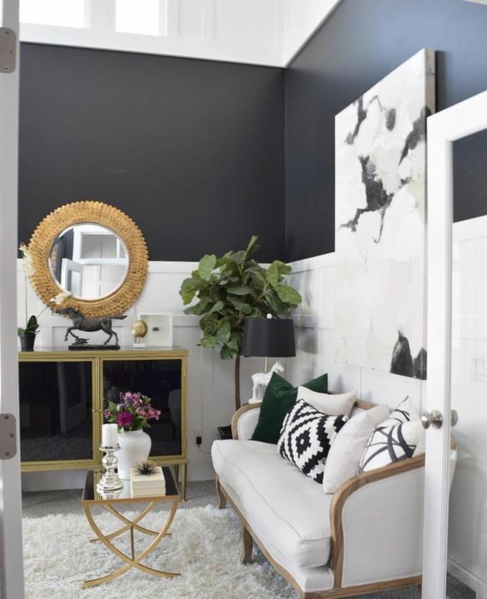 1001 ideas sobre colores para salones y c mo pintar la - Como pintar un salon en dos colores ...