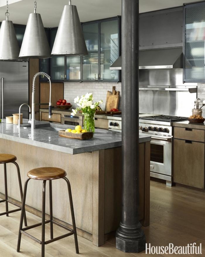 1001 ideas de dise o de cocinas de estilo industrial for Ideas de cocina comedor