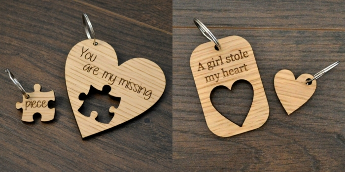 pequeño regalo sorpresa para tu ser querido, porta llaves decorativos de madera con mensajes amorosos