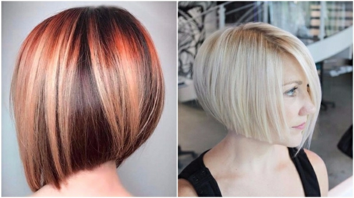 cortes de pelo corto mujer, tendencias pelo corto mujer 2018, variantes de carre pelo rojo y rubio, cabello liso y grueso