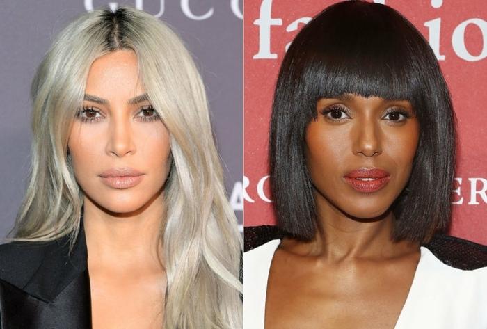 cortes de pelo mujer media melena, ejemplos de cortes de pelo modernos, pelo largo ondulado muy claro, pelo castaño oscuro en carre