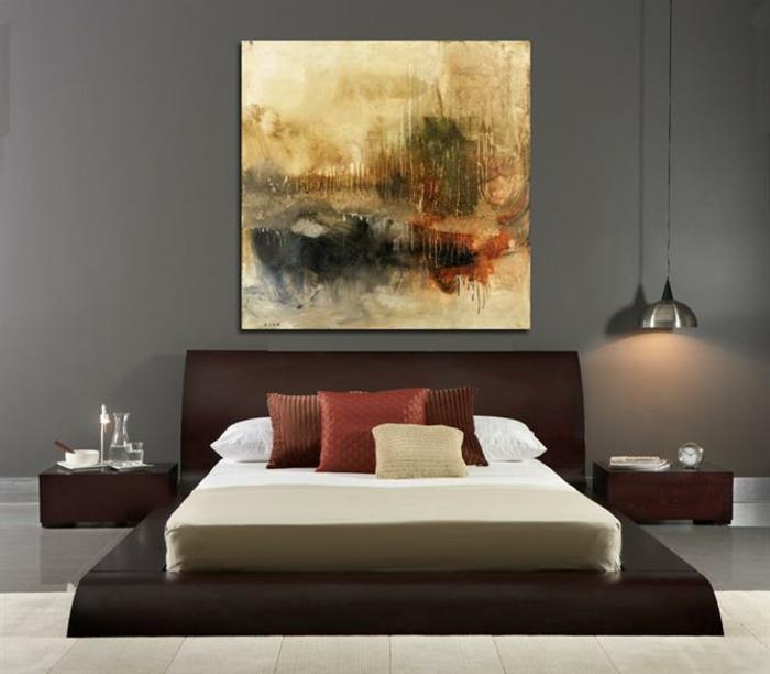 cuadro impresionista para un dormitorio en estilo contemporáneo, cuadros decorativos modernos