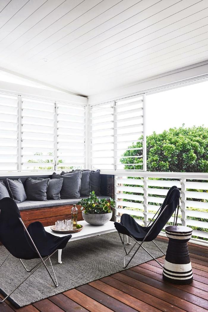 1001 ideas de decoraci n de terrazas con encanto - Decorar en blanco y madera ...