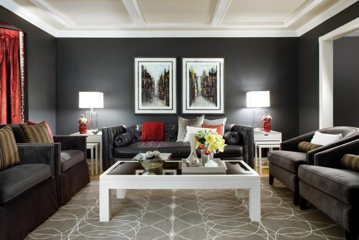 Decoracion de paredes para salones decoracin en tonos - Decoracion paredes salones ...