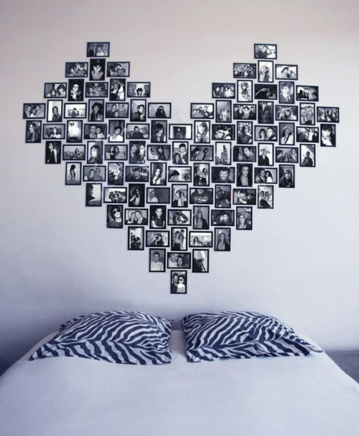 1001 ideas originales sobre c mo decorar con fotos - Bilder collage wand ...