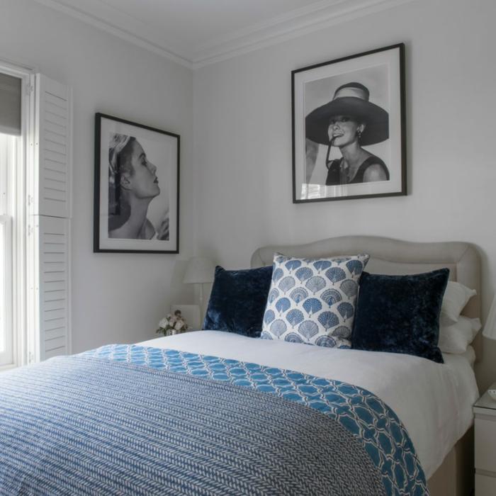 1001 ideas de decoraci n con cuadros para dormitorios - Cabeceros de cama con cojines ...