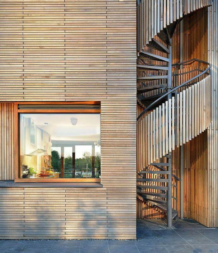 1001 ideas de originales escaleras de caracol con mucho for Escaleras de metal exteriores