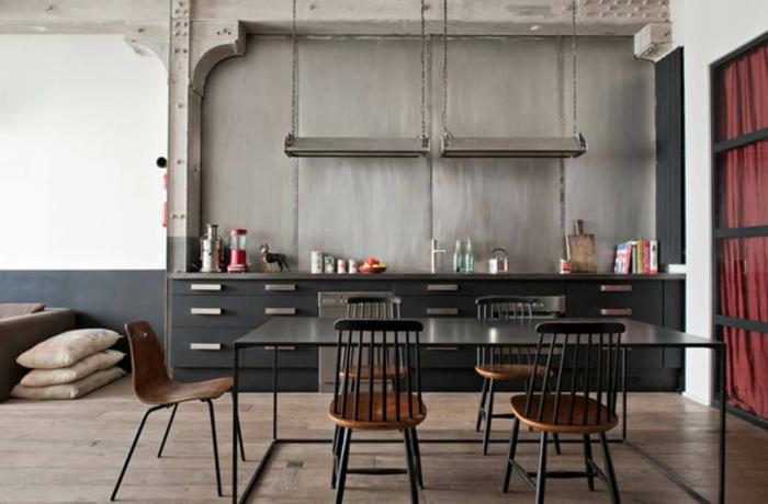 1001 ideas de dise o de cocinas de estilo industrial for Mesas de cocina de madera baratas