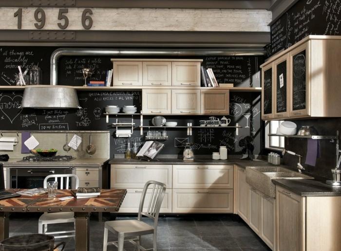 1001 ideas de dise o de cocinas de estilo industrial for Disenos de muebles de cocina en madera
