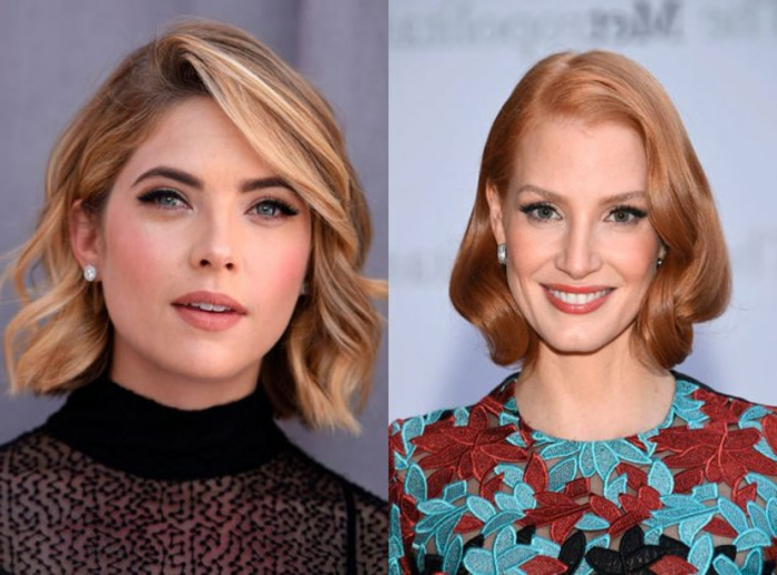 cortes de pelo rizado 2018, peinados modernos con rizos bien definidos, cortes de pelo sofisticados, tendencias en 2018