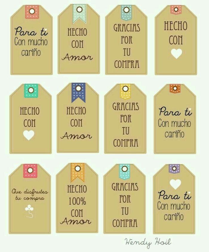 etiquetas para regalos de san valentín, plantillas de papel, regalos para hombres, texto en español, mensajes de amor