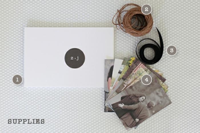 materiales necesarios para regalo san valentin, cartulina, fotos, cinta decorativa, cuerda, qué regalar a tu novio, ideas originales