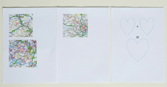 tutorial para hacer corazones de mapas y papel blanco, regalo para parejas, ideas para san valentin, parejas que viven juntas