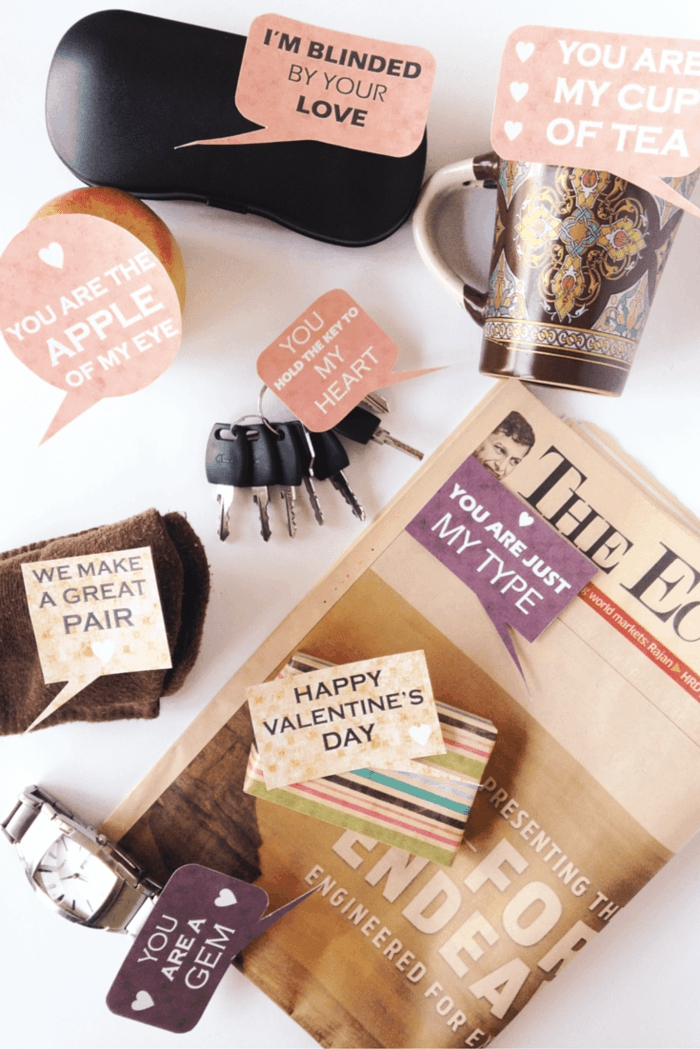 regalos san valentín para el último memento, sorpresa con mensajes de amor en los objetos cotidianos, ideas para san valentin
