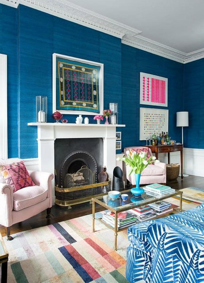 1001 ideas sobre colores para salones y c mo pintar la - Combinacion de colores en paredes ...