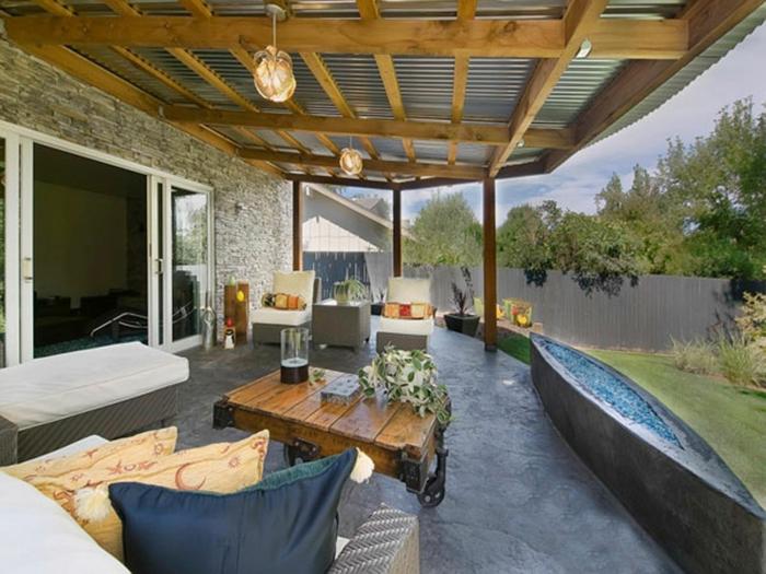 últimas tendencias en el diseño de terrazas grandes, interesantes elementos arquitectónicos, como decorar una terraza grande