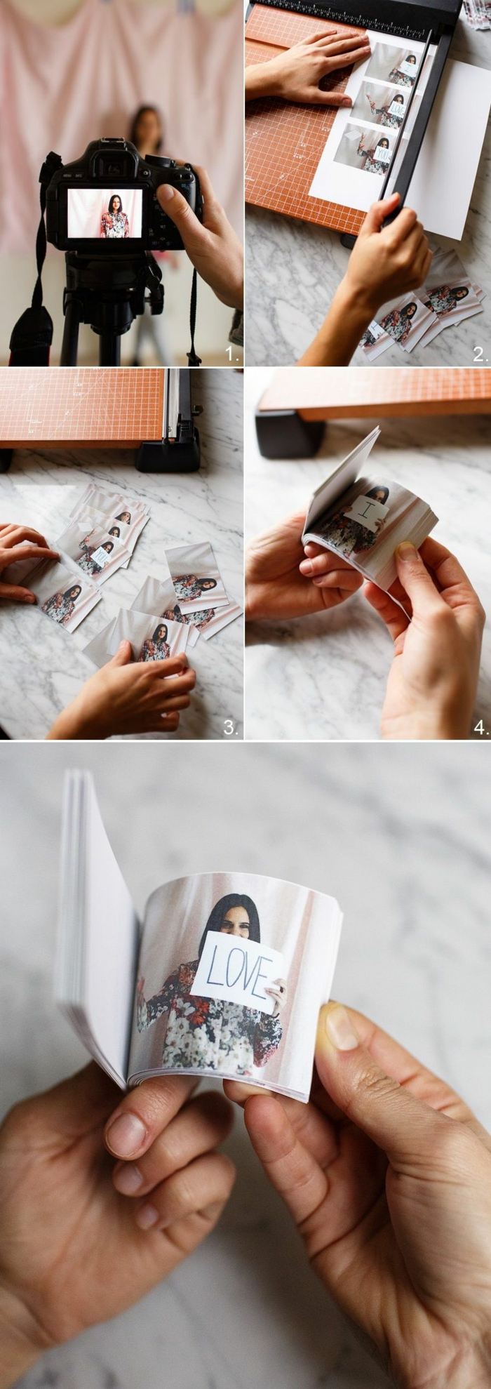 manualidades románticas, libro con fotos de la mujer amada, cómo hacerlo paso a paso, regalos originales para novios, fotos originales