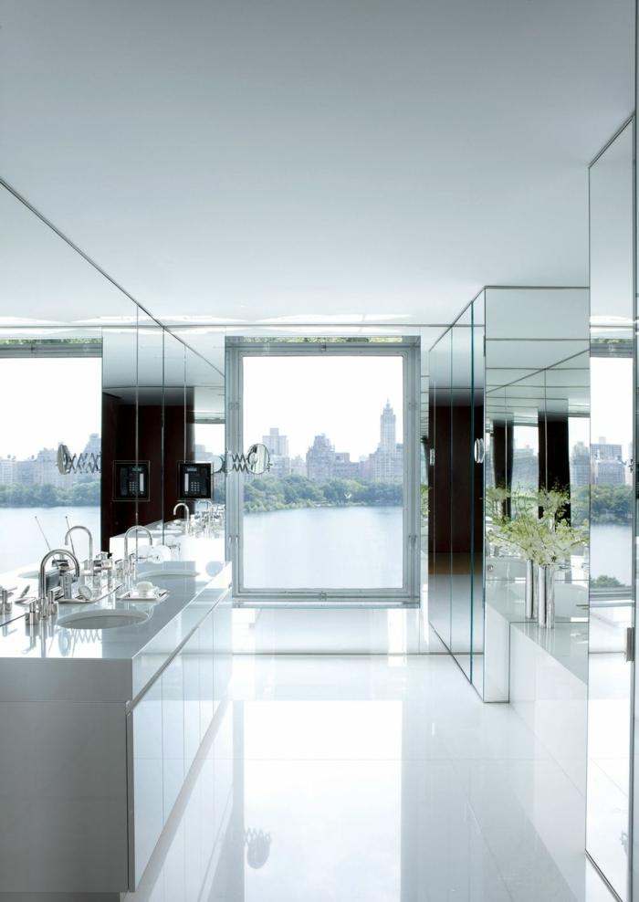 Paredes con espejos trendy promocin vinilos paredes for Espejos grandes plateados