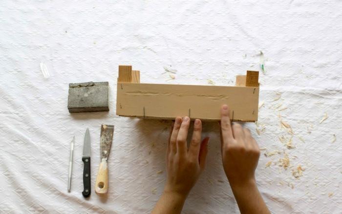 Decorar cajas de madera con papel interesting decorar - Decorar cajas de madera con papel ...