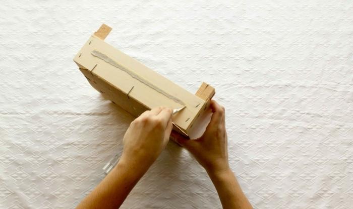 proyectos bricolaje para decorar tu hogar, cajas de fruta decoradas para almacenar frutas y verduras, ideas originales DIY