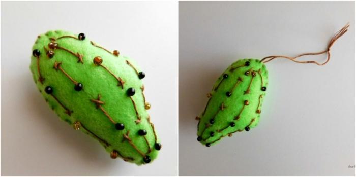 pequeños juguetes decorativos en forma de cactus, ideas de manualidades faciles para hacer en casa,
