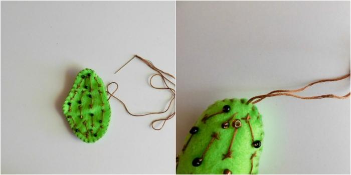 cactus decorativos hechos de fieltros, manualidades faciles para hacer en casa divertidos y originales, pasos detallados