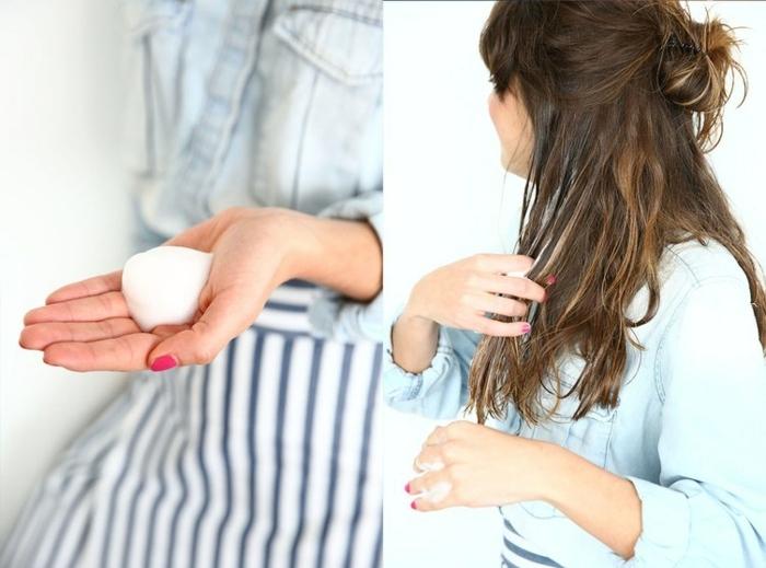 pasos para ondular tu pelo con difusor y espuma, cómo hacer ondas en el pelo paso a paso
