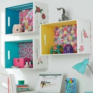 Cajas de fruta decoradas - 80 maneras increíbles de decorar la casa con cajas de madera