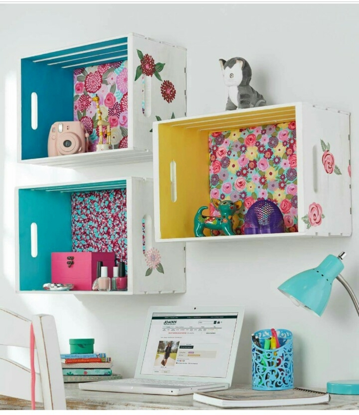 1001 ideas sobre decoraci n con cajas de fruta decoradas - Ideas con cajas de frutas ...