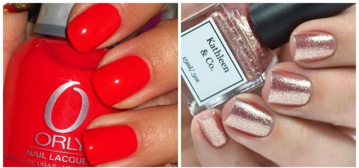 ejemplos de colores en tendencia para la temporada primavera verano 2018, decoracion de uñas cortas de forma cuadrada