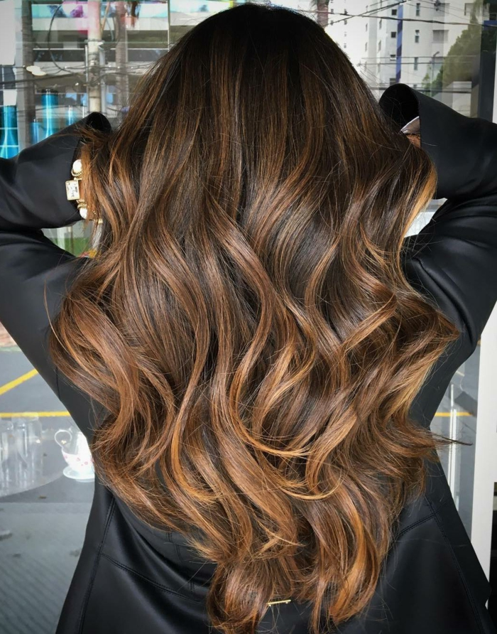 Dark hair color trends 2018