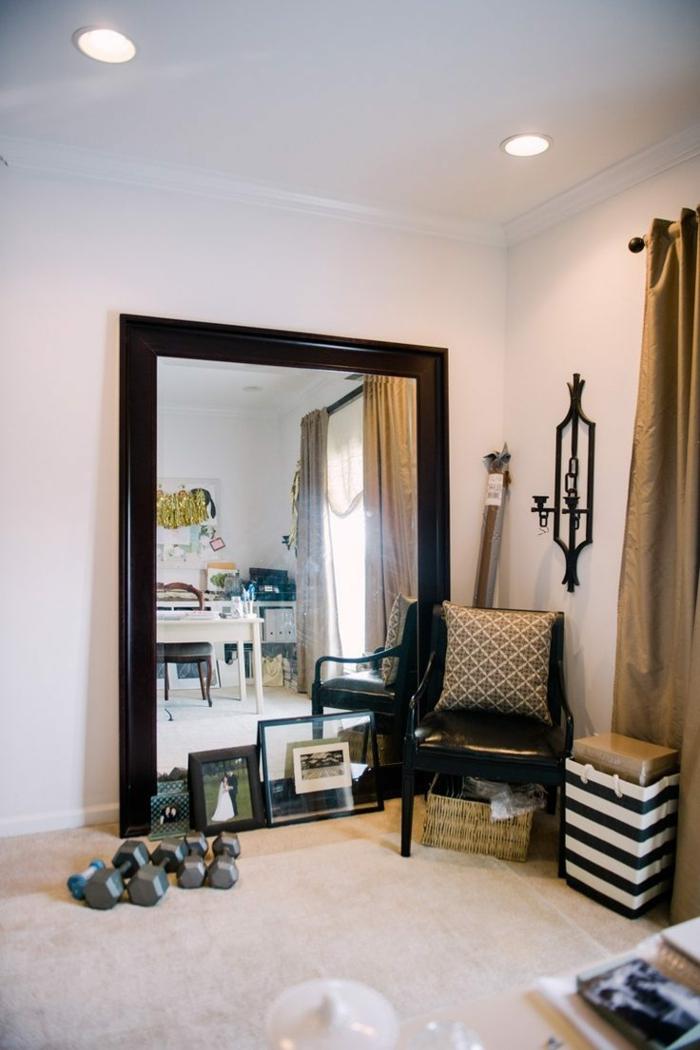 1001 ideas de decoraci n con espejos para tu hogar - Cortinas estilo vintage ...