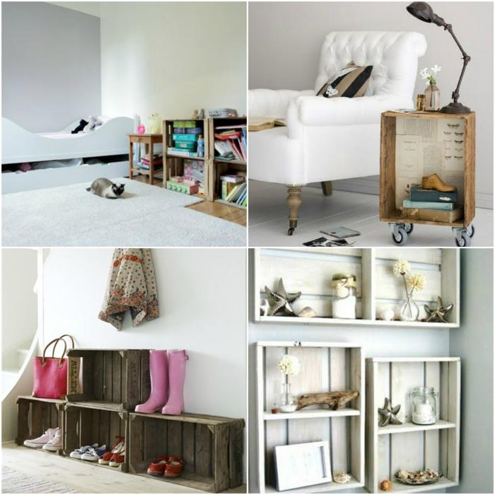 1001 ideas sobre decoraci n con cajas de fruta decoradas - Cajones de fruta de madera ...